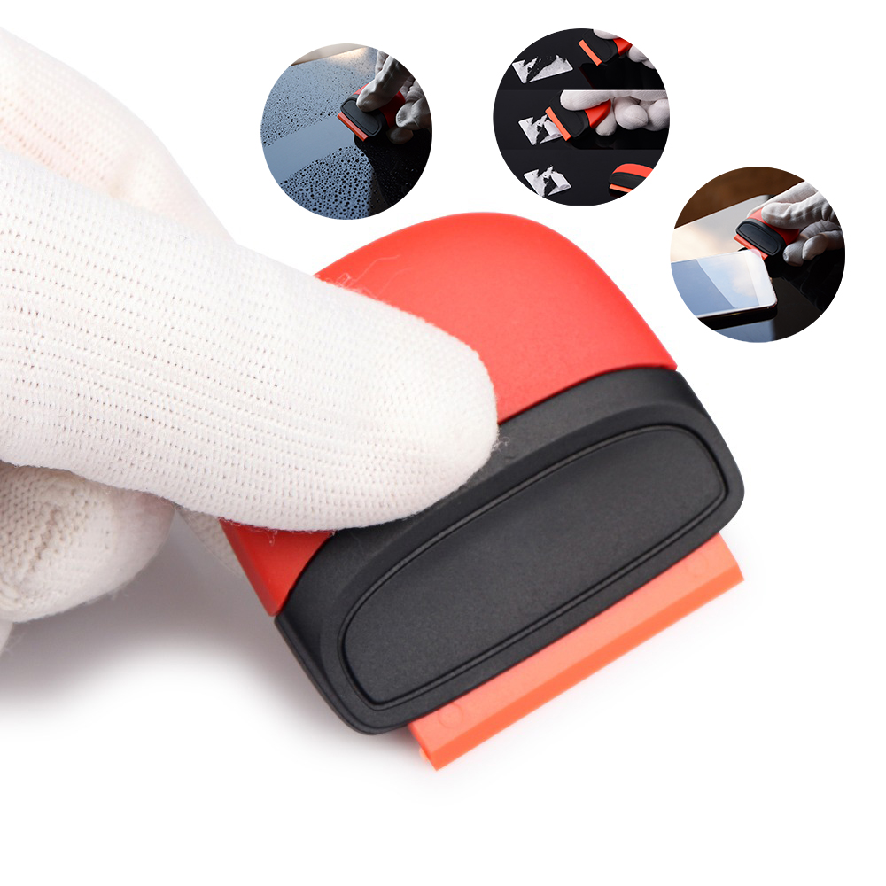 EHDIS Car Razor Scraper Tools Carbon Fiber Vinyl Sticker Remover Wrap Squeegee Auto Wrapping Foil Film Automobiles Accessories