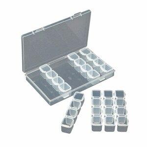 Image 4 - Junejour28 Grids Makeup Organizer Storage Box Nail Drill Plastic Box Cosmetic Box Lipstick Jewelry Box Case Holder Display Stand