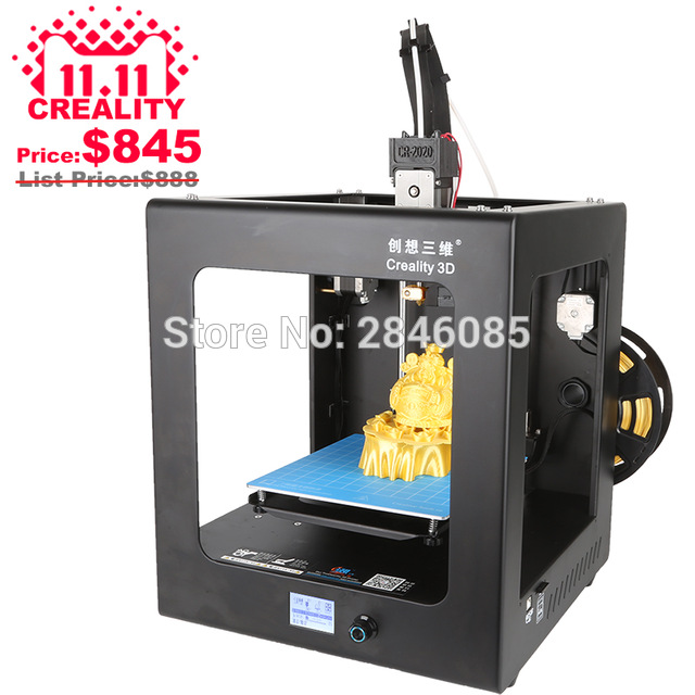 2017 High Quality CREALITY 3D CR-2020 Auto Leveling 3D Printer Full Assembled 3D Printing Machine+ Hotbed+Filament+SD Card+LCD flsun 3d printer big pulley kossel 3d printer with one roll filament sd card fast shipping