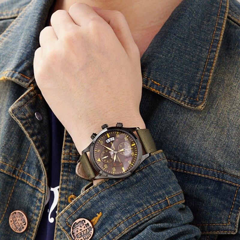 Reloj Megir para hombre relojes de cuarzo verde de lujo de marca superior  reloj deportivo para hombre reloj de pulsera cronógrafo para hombre reloj  ... de516b77e529