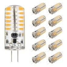 G4 LED Bulb 10 Pack 3W Bi-Pin Light 48 X 3014 SMD 20W Halogen Equivalent Silicone 220 Lumens 360 Beam Angle DC 12V