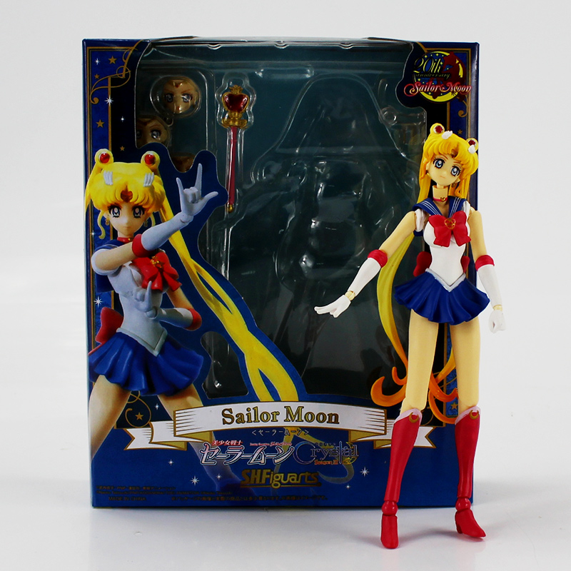 15cm New Sailor Moon Crystal Season III Action Figure 20th Anniversary Variable PVC Figure Model Toys For Kids Christmas Gifts