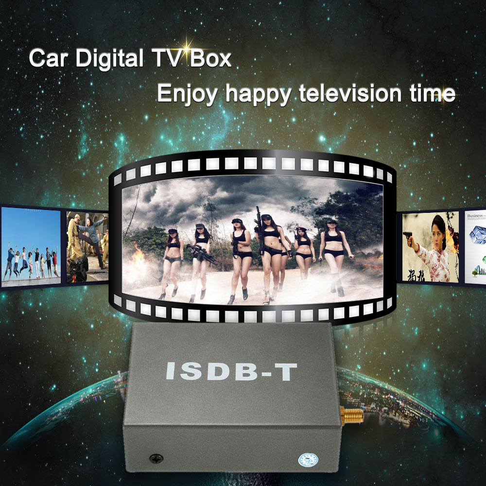 Digital Mini Car TV Box ISDB-T Analog TV Strong Signal TV Receiver for Car DVD Player Monitor with Antenna Remote Controller dvb t isdb digital tv box for our car dvd player