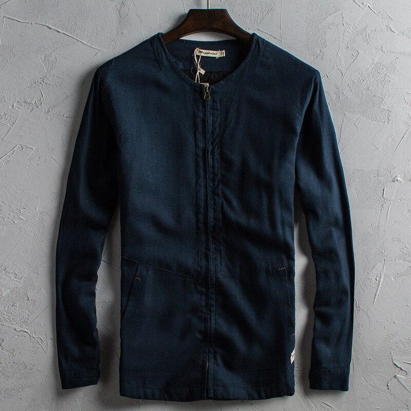 2019 New Autumn Original Design Cotton Jacket Trim Casual Jacket Fashion Men Linen Chinese Style Jacket Youth Size M L Xl 3xl