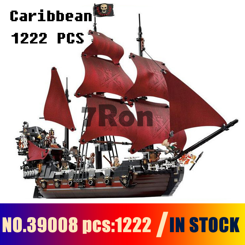 Compatible with lego 4195 Models building toy 39008 1222pcs Queen Anne\'s Revenge Pirates Of Caribbean Building Blocks & hobbies 2017 new toy 16009 1151pcs pirates of the caribbean queen anne s reveage model building kit blocks brick toys