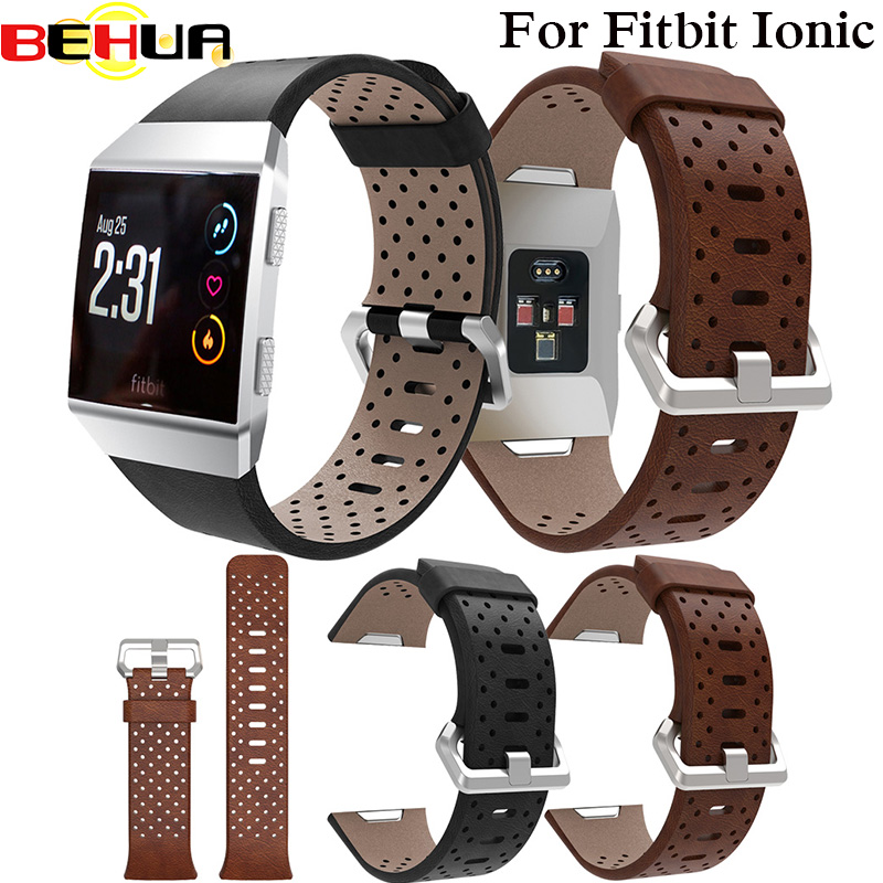 Replacement Sport Band For Fitbit Ionic Strap Perforated Leather Accessory Band Bracelet Watchband Wristband Smart Watch Straps