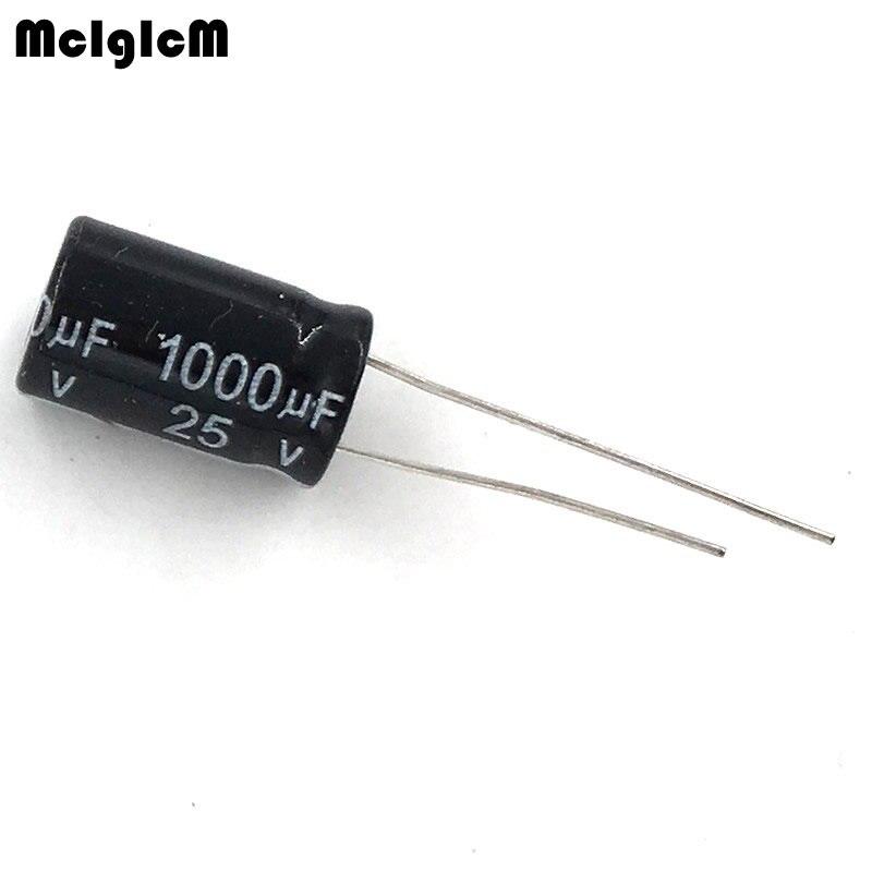MCIGICM 500pcs Aluminum Electrolytic Capacitor 1000uf 25v 10*17 Electrolytic Capacitor Hot Sale 1000 Uf 25 In