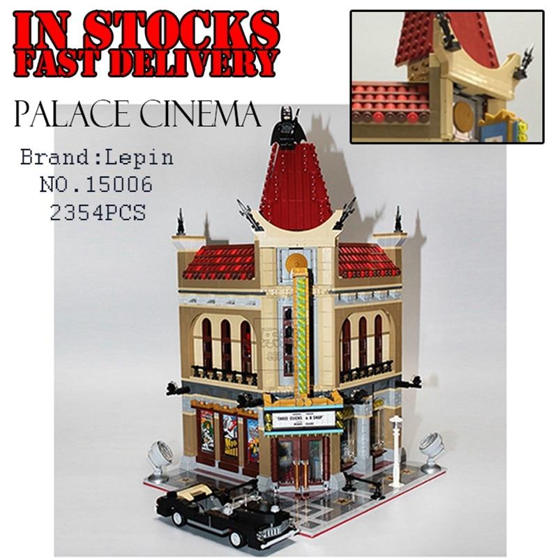 2354PCS LEPIN 15006 Palace Cinema Modular Street LEPINE Building Bricks Blocks Toys For Children Compatible 10232 2016 new lepin 15006 2354pcs creator palace cinema model building blocks set bricks toys compatible 10232 brickgift