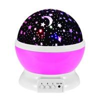 LED Rotating Night Light Projector Spin Starry Sky Star Master Children Kids Baby Sleep Romantic USB