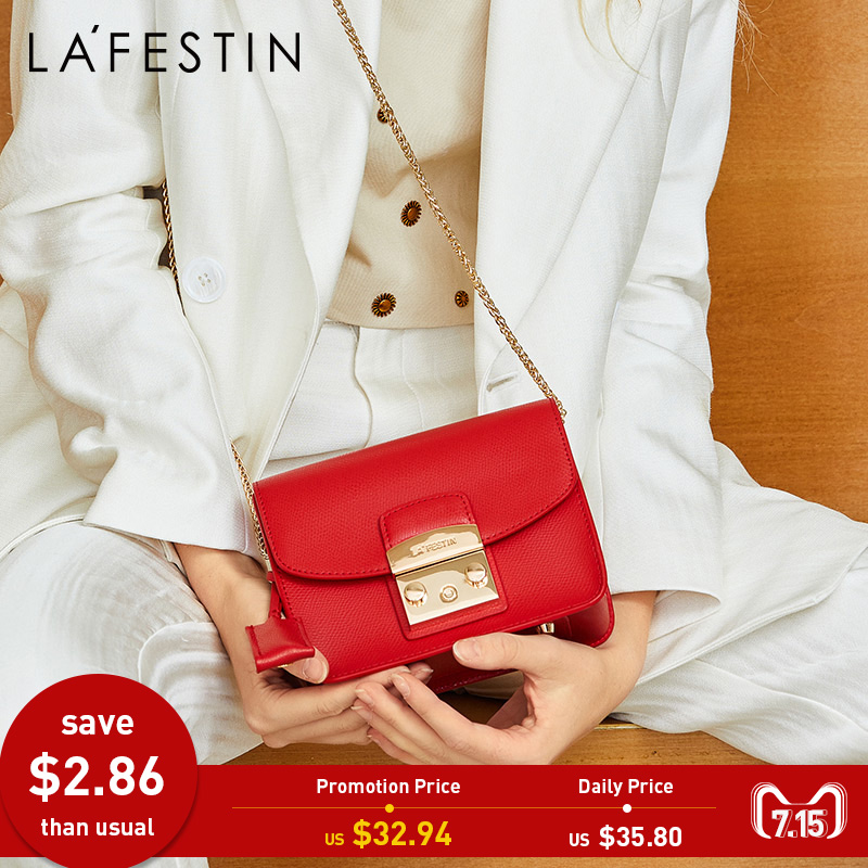 LAFESTIN célèbre sac à bandoulière femme Designer véritable cuir rabat sac à bandoulière luxe Totes multifonction marques sac bolsa