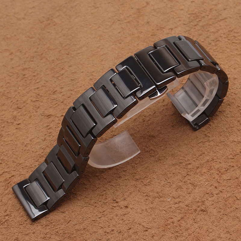 14mm 16mm 18mm 20mm High Quality Ceramic Watchband white black Watch accessories fit Gear S2 classic Man watches new Bracelet