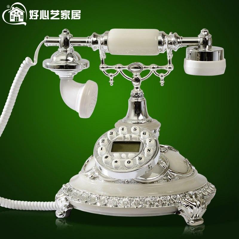 Хорошее в стиле ретро европейские антикварные телефон стационарный телефон Новая мода Лилия ветер 8909 украшение дома классические id с подсв