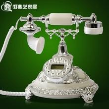 Good art RETRO European antique telephone landline telephone new fashion Lily wind 8909 european antique telephone set classical rotary dial telephone resin classical telephone