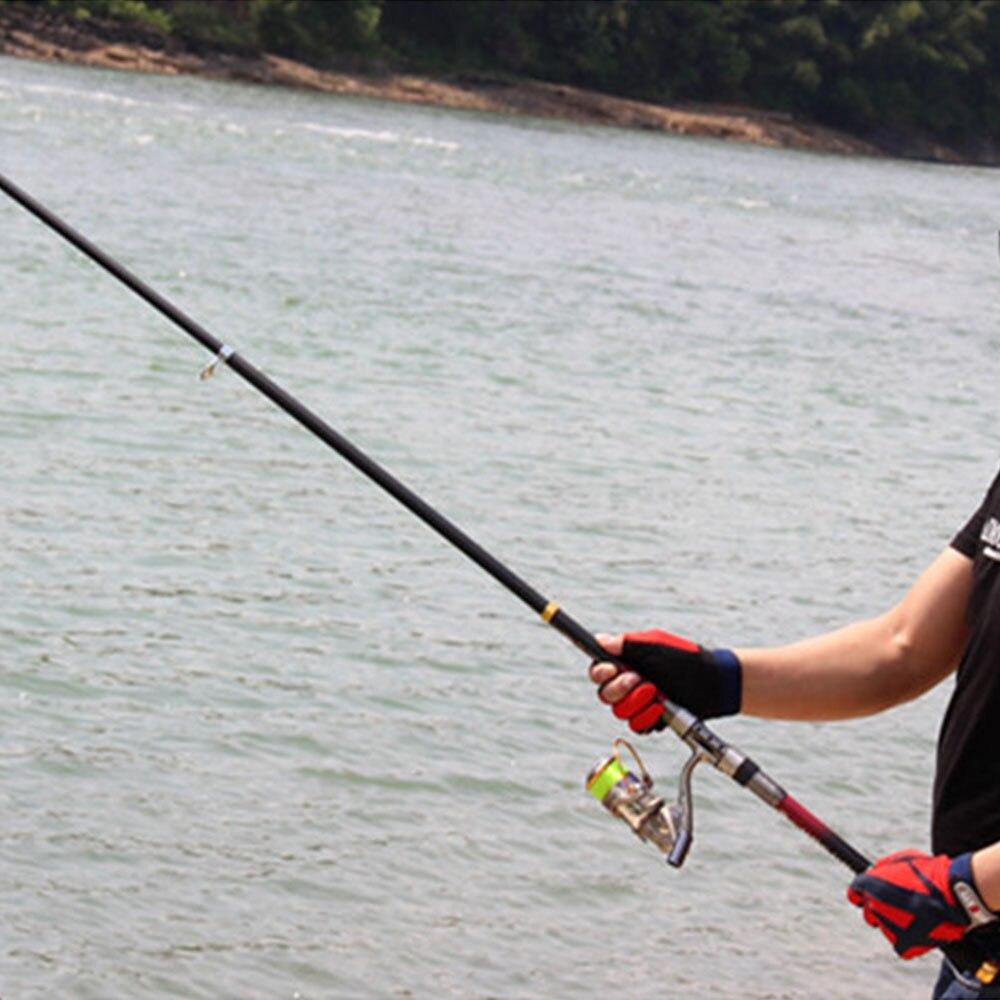 Super Hard Telescopic Fishing Rod 99% Carbon Fiber 2.1-3.6M Carbon Spinning Pole Sea Fishing Stick Metal Ring