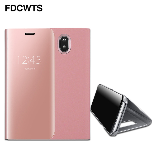 FDCWTS Flip Cover Leather Case For Samsung Galaxy J7 Max Clear View Phone Case
