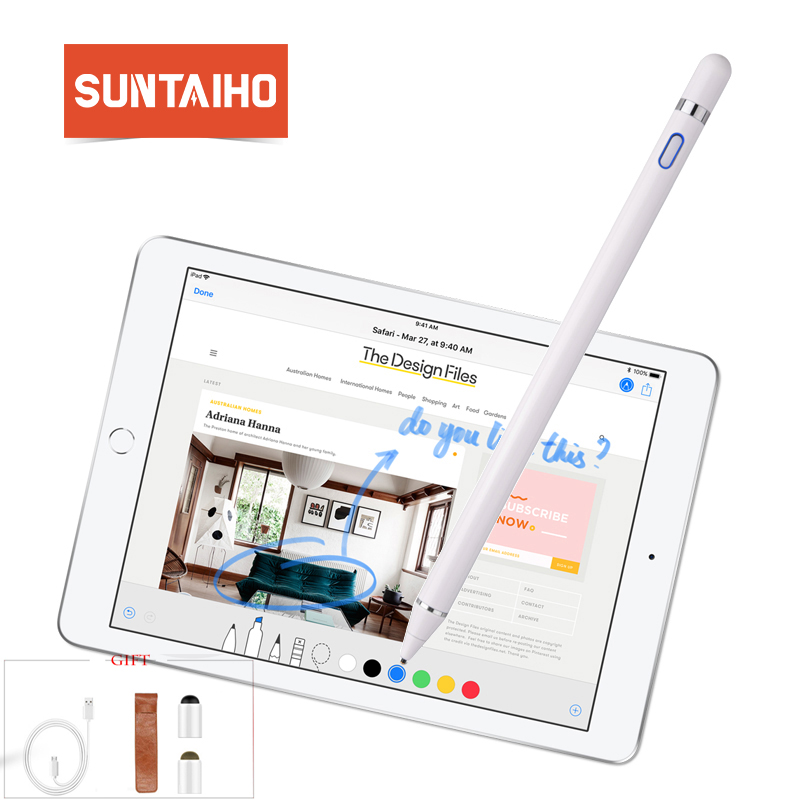 best website df4a8 93ab0 US $27.38 44% OFF|for apple Pencil 2 Suntaiho new stylus capacitance touch  Pencil for apple ipad pencil For iPhone XS MAX with retail Packaging-in ...