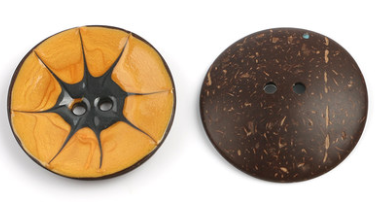Цветная круглая Кокосовая декоративная кнопка, большая Деревянная пряжка, сделай сам, пальто для одежды, Кокосовая оболочка, клеевая кнопка, Детская Кнопка 63 мм - Цвет: 17