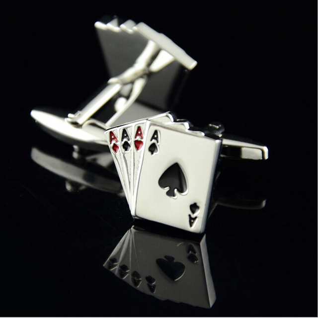 CM175 Directly Factory High Quality New Arrival poker style cufflinks French shirt cufflinks 4A Cards Design cufflinks men gifts