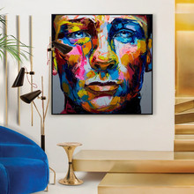Hand painted Francoise Nielly portrait oil painting on canvas abstract wall art pictures for living room cuadros decoracion
