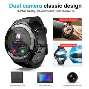 Image 2 - LOKMAT 4G 5mp + 5mp كاميرا مزدوجة ساعة ذكية الرجال الروبوت 7.1 MTK6739 1GB + 16GB 400*400 AMOLED شاشة GPS WIFI ساعة ذكية لنظام تشغيل الأندرويد