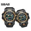1 пара наручных часов цифровые мужские женские спортивные часы для плавания кварцевые часы с двойным дисплеем для мужчин и женщин G стиль