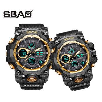 1 par de relojes de pulsera digitales para hombre relojes deportivos para mujer natación de cuarzo reloj de doble pantalla para hombre femenino estilo G