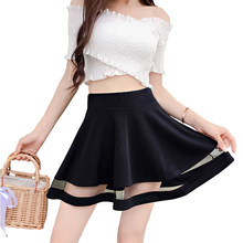 607efdebbf AmberHeard 2018 Summer Korean Women Net Yarn A Line Skirt Sexy High Waist  Micro Mini Skirt Short Skirts Women Clothing Plus Size