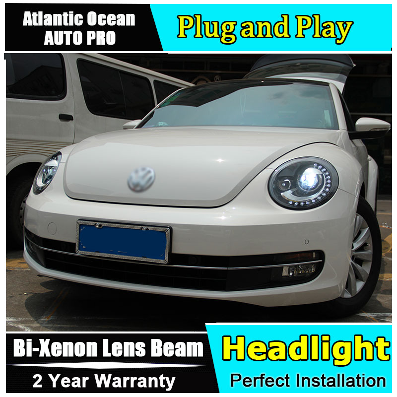 Новый глава лампа автомобиля стайлинг для VW Beetle фары 2013 2018 для VW Beetle xenon светодиодный би ксенон len парковка головного света светодиодный drl