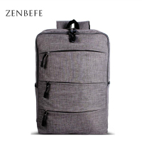 ZENBEFE Stereoscopic Linen Backpacks Unisex Laptop Backpack Breathable Backpacks For Computer Capacity Travel Bags Hiking Bag