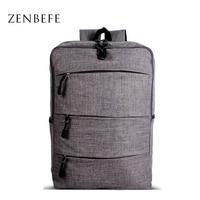 ZENBEFE Stereoscopic Linen Backpacks Unisex Laptop Backpack Breathable Backpacks For Computer Capacity Travel Bags Hiking Bag