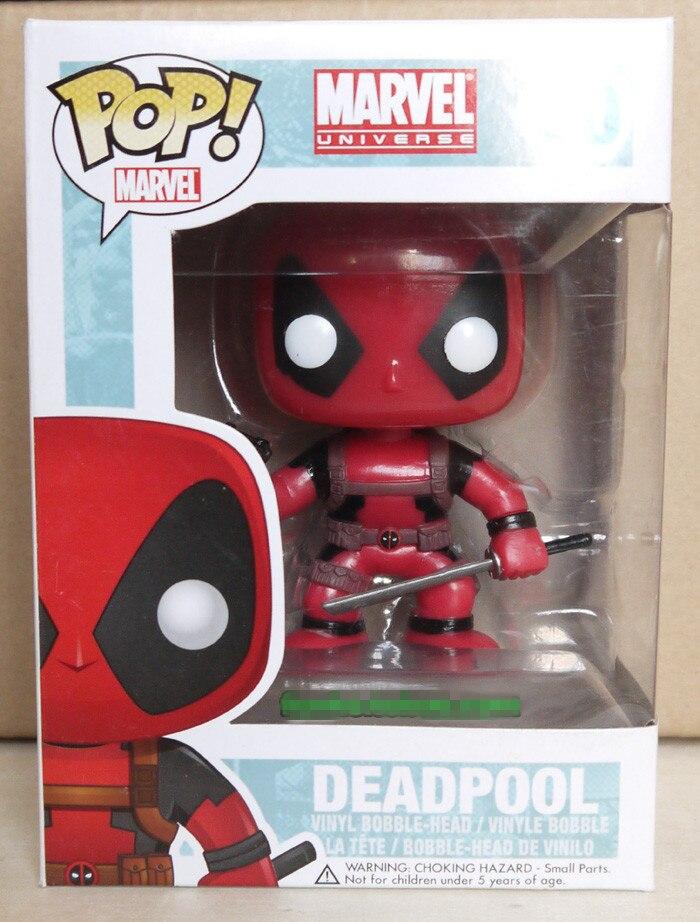 10CM FUNKO <font><b>POP</b></font> <font><b>Marvel</b></font> Deadpool <font><b>Spiderman</b></font> Action Figures Toy DOLL
