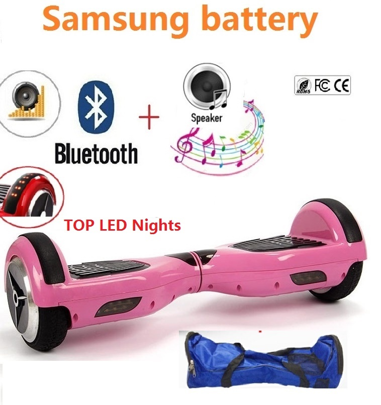 6.5 Adult Electric Scooter hoverboard skateboard overboard smart balance Skateboard balance board giroskuter or oxboard no tax to eu ru four wheel electric skateboard dual motor 1650w 11000mah electric longboard hoverboard scooter oxboard