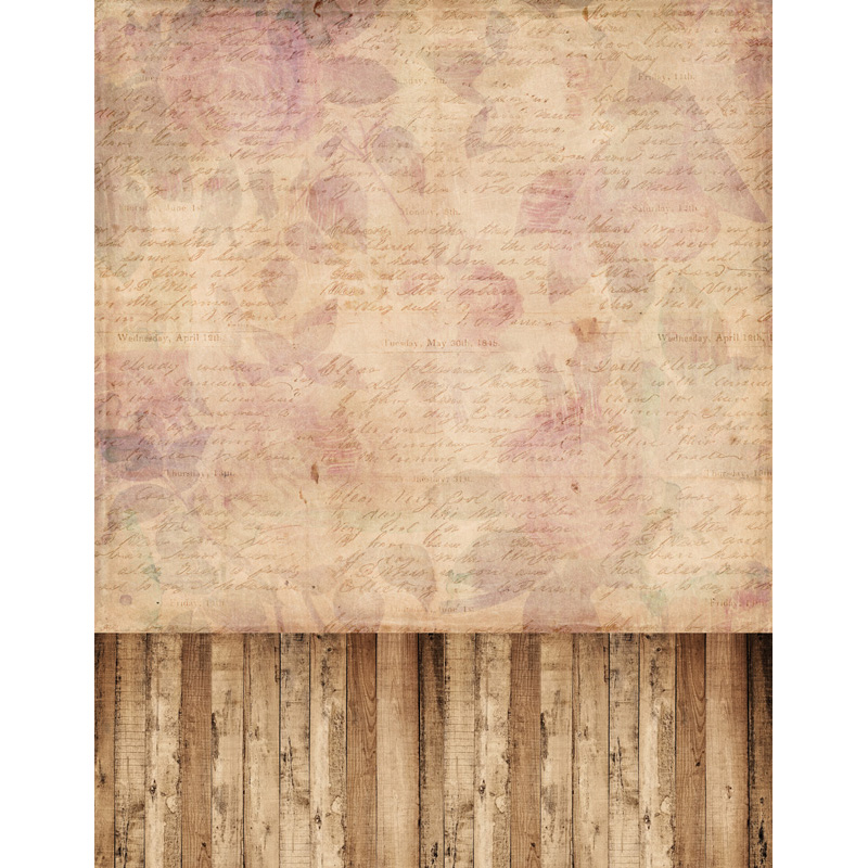 TR 8x8FT Flower Pattern Letter Brick Wall Wood Floor Photography Studio Prop Wedding Bac ...