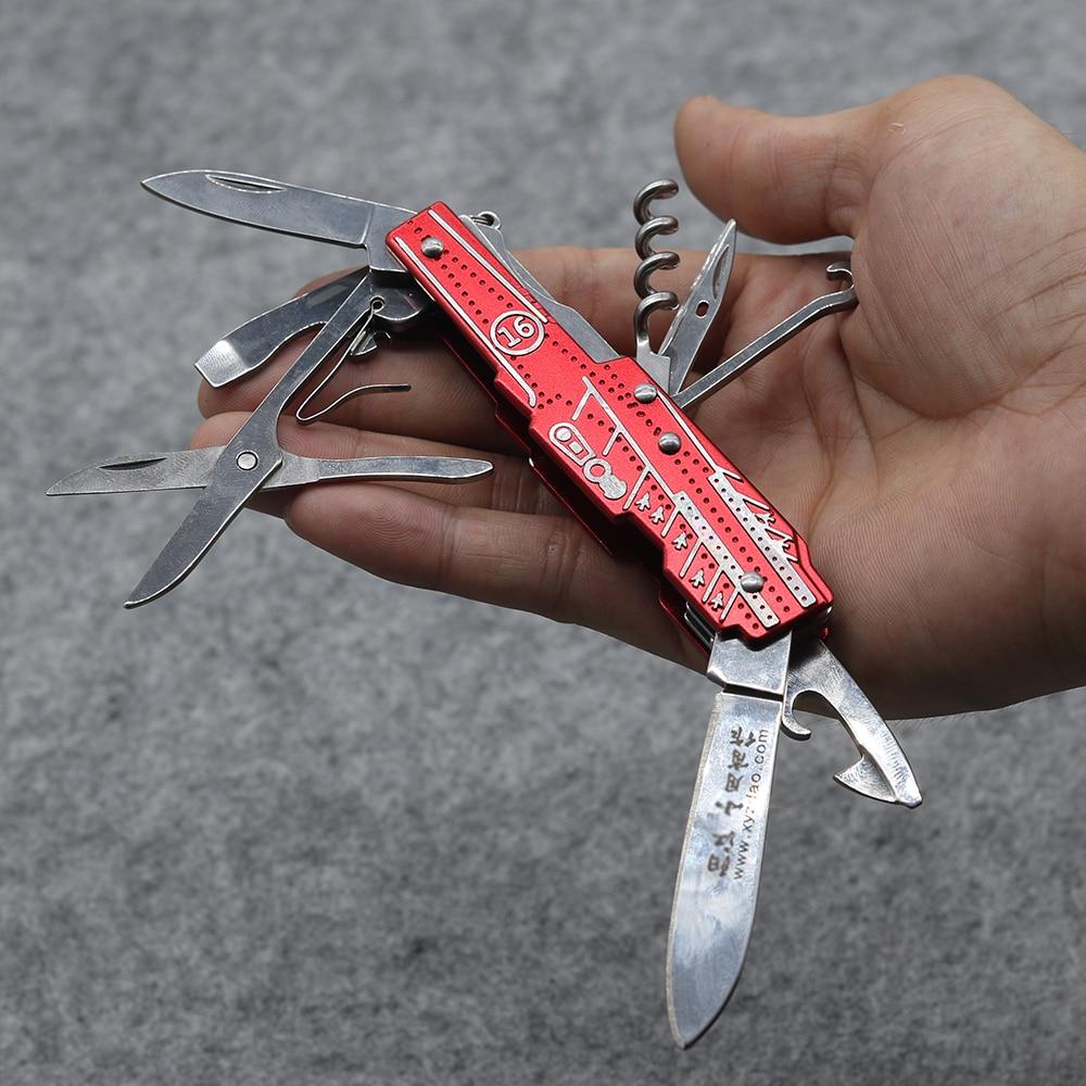 Nový! Červený multifunkční skládací nůž z nerezové oceli 9 - Ruční nářadí - Fotografie 1