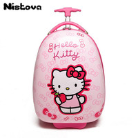 New girl cartoon travel bag Hello Kitty16 inch suitcase child storage box with wheel student suitcase cute small suitcase