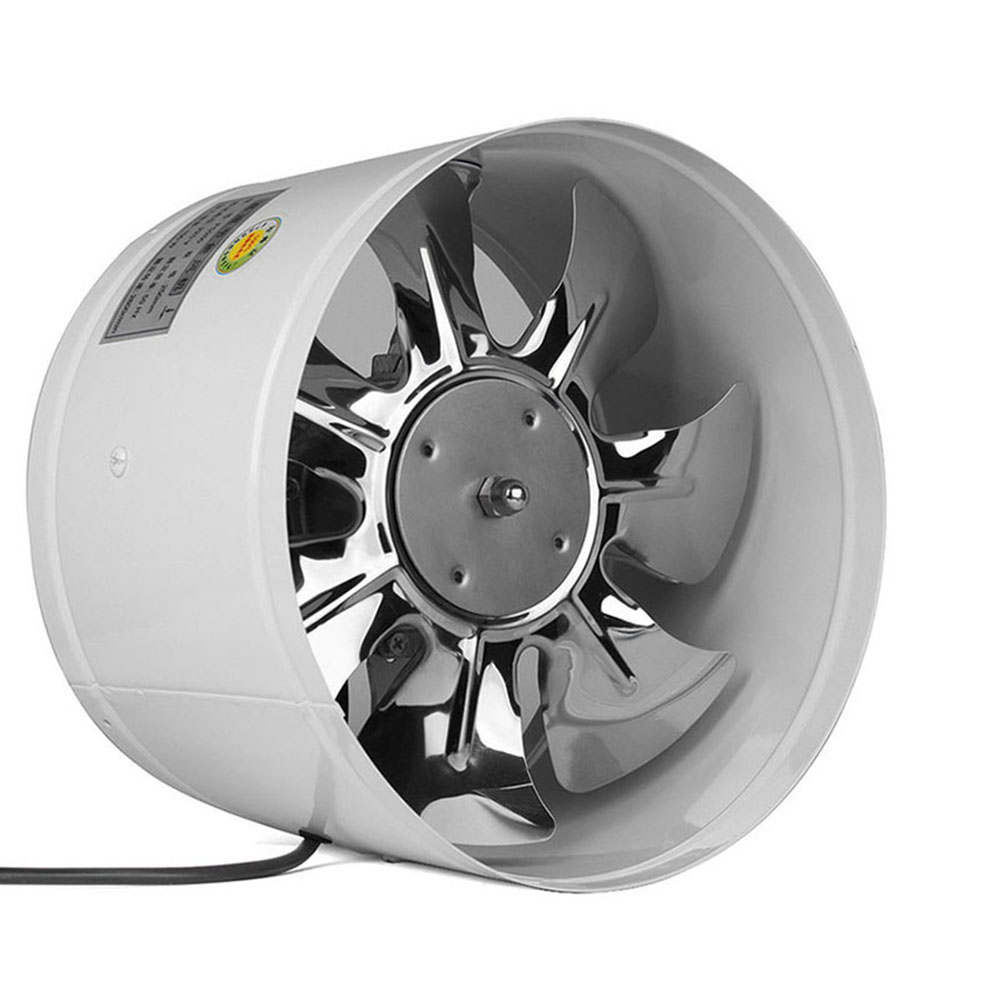 """220V 25W 4/"""" Inline Duct Fan Booster Exhaust Blower Air Cooling Vent Steel Blade"""