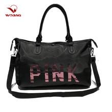 Wobag Ladies Travel Bag Pink Sequins Shoulder Bag