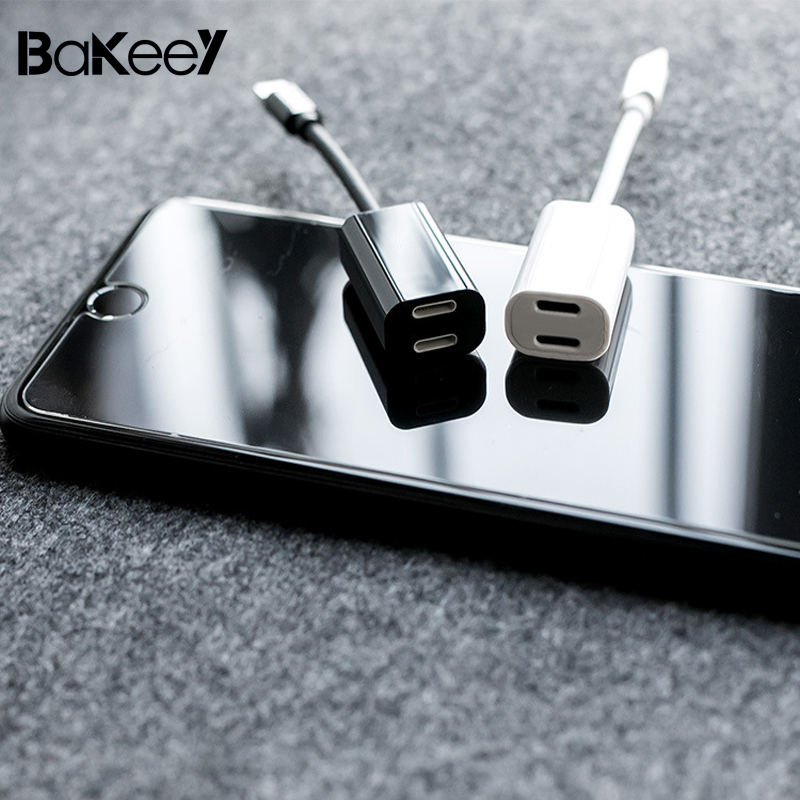 Bakeey for iPhone7plus/8/x Charging Audio 2 in 1 Adapter Charger Splitter Earphone Jack  ...
