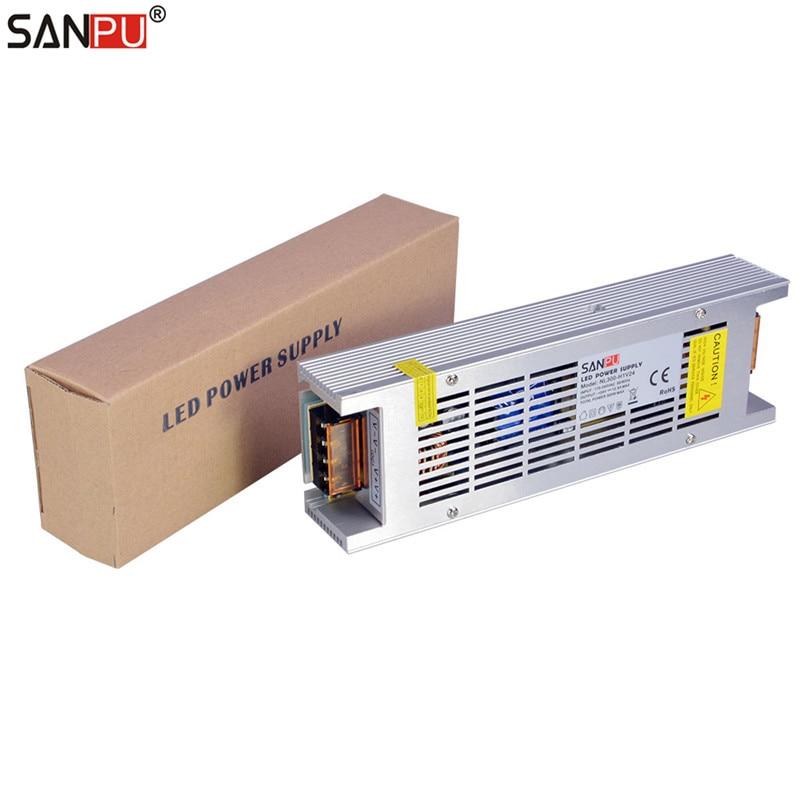 SANPU SMPS alimentation LED alimentation 24 v 300 w 12a tension constante commutation pilote 220 v ac à dc transformateur d'éclairage pas de ventilateur intérieur