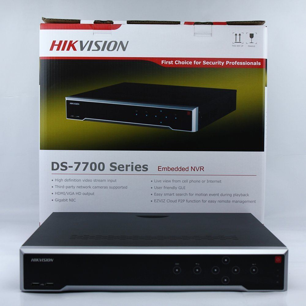 FreeShipping EMS Hikvision Original English Version DS 7716NI I4 16P 16CH NVR with 4SATA and 16