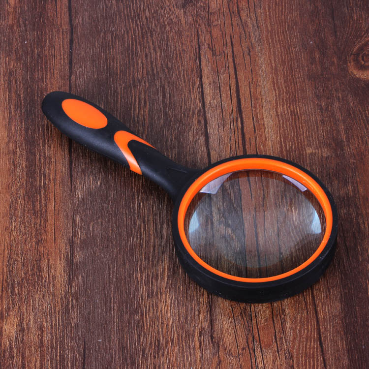 3.5X Optical Glass Lens 80mm Reading Magnifying Glass Anti-Slip Shatter-Resistant Handle Magnifier