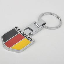 MAYITR 1pc Car Metal Germany German Flag Keychain Key Ring Keyfob Accessory Interior Accessories Styling