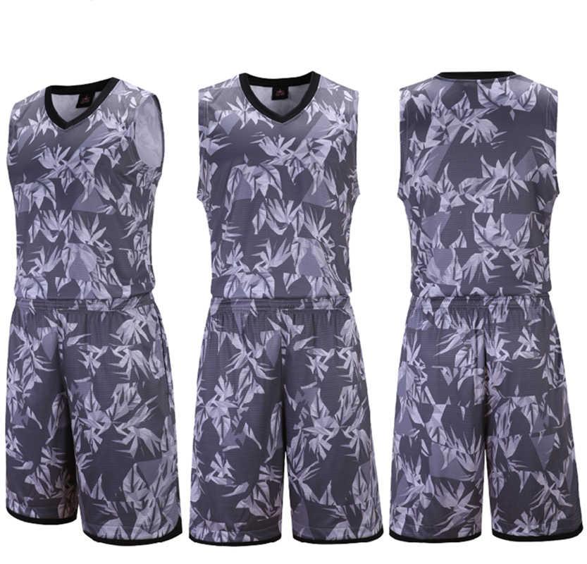c4d759d9bcc ... ZMSM New Men Basketball jerseys Sets 2018 2019 Basketball uniform  basketball Vest Training Shorts Camouflage Sportswear ...
