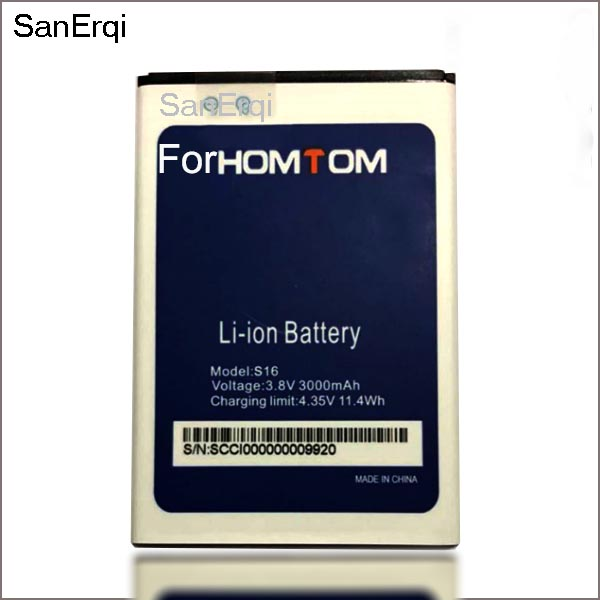 <font><b>S16</b></font> <font><b>Battery</b></font> 3000mAh Replacement 5.5inch <font><b>Battery</b></font> For <font><b>HOMTOM</b></font> <font><b>S16</b></font> Mobile Phone <font><b>Battery</b></font> image