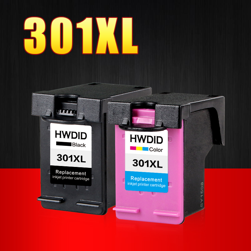 2 pack 301xl ink cartridge replacement for hp301 hp 301 xl ch563ee ch564ee for deskjet 1000 1050. Black Bedroom Furniture Sets. Home Design Ideas