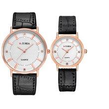 Лидер продаж Reloj высококачественный 2 шт. роскошные часы с бриллиантами Для мужчин леди на пара кварцевые наручные часы; оптовая продажа; Прямая поставка; 17feb26