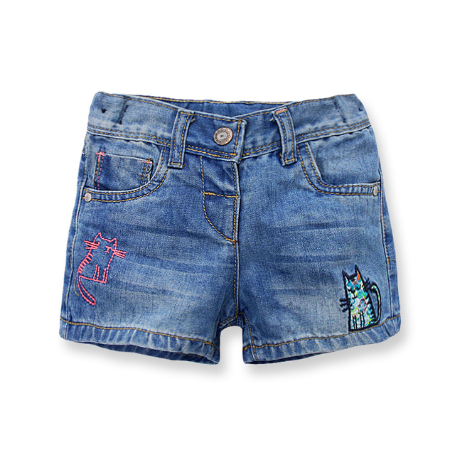 11cab94d2b Girls Denim Shorts Summer Brand Embroidery Baby Girls Shorts Jeans Casual Girl  Pants Jeans Children Clothing Kids Clothes 2-7 Y
