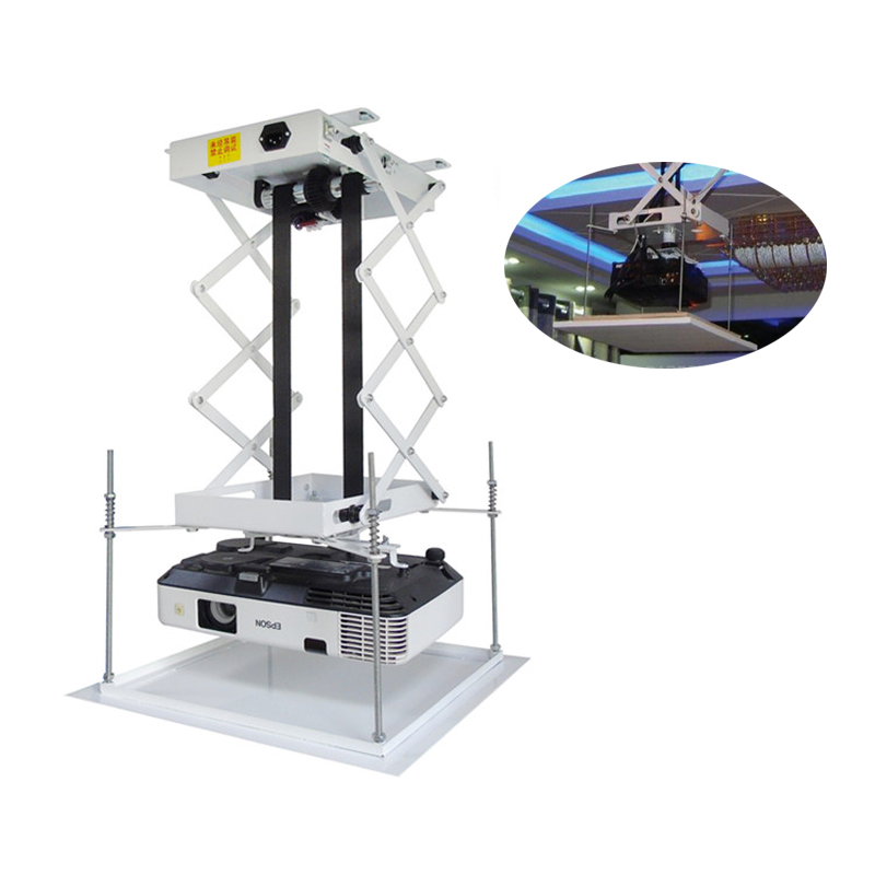 70CM Projector bracket motorized electric lift scissors projector ceiling mount projector lift with wireless remote 110v