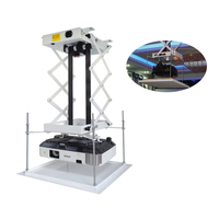70CM Projector bracket motorized electric lift scissors projector ceiling mount projector lift with wireless remote 110v/220v