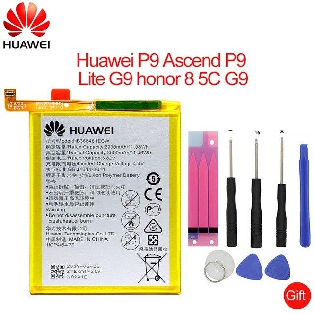 Hua Wei Thay Thế Điện Thoại Pin HB366481ECW cho Huawei honor 8/honor 8 lite/honor 5C Ascend P9/P9 Lite /G9 3000 mAh
